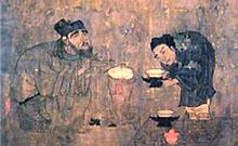 Figure 2 Yan Liben, 閻立本d. 673 (attr.) Xiao Yi Acquiring the 'Orchid Pavilion Preface' by Deception